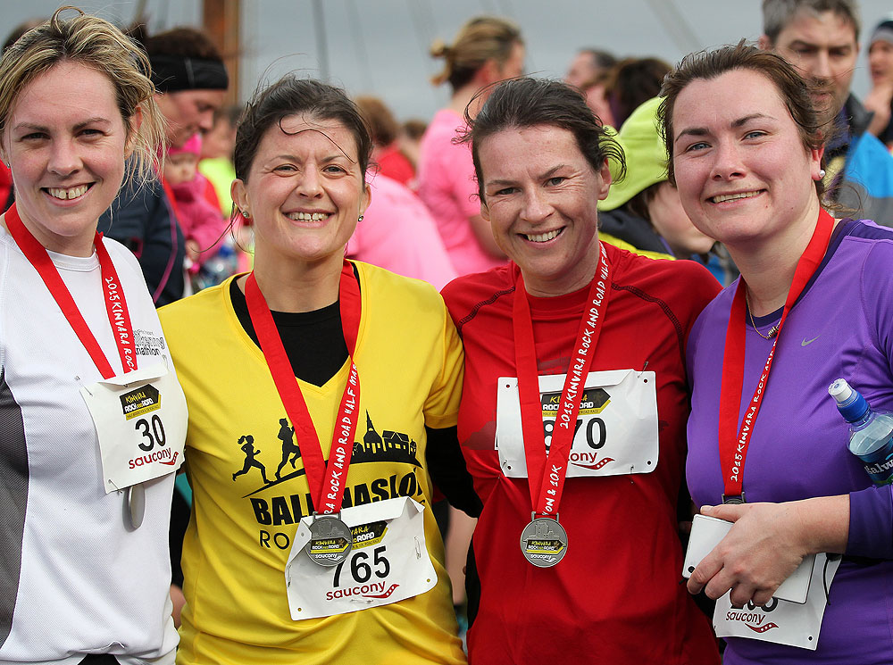 Medals at the Kinvara Rock and Road 10K & Half Marathon